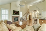 Youll love the brick surround on the fireplace!