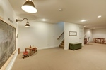 Finished basement offers so many options!