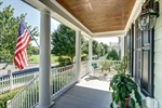 Shaded front porch is the perfect spot for coffee!
