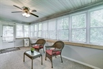 Nature lovers will enjoy the sunroom!