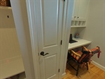 Built-in desk and closet