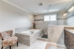Separate soaking tub