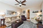 Family Room with Hardwood Floors!