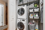 Laundry with Stackable Washer and Dryer!