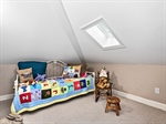 Second floor playroom with skylight