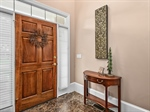 Lovely marble two story foyer
