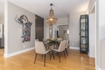 Spacious dining room with French doors to 2nd BR