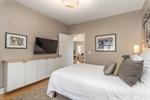 Functional built-in storage in owners suite