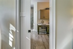 Bathroom with pocket door