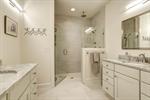 Beautiful spa-like bathroom with dual vanities