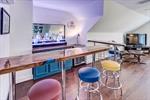Custom built-in bar for parties!