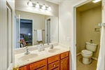 Owners bathroom with double sinks
