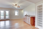 Wet bar and French doors to rear yard!