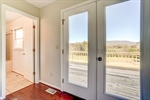 New French doors at rear of home.