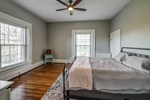 Each spacious bedroom features large closets