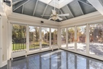Sunroom with auxiliary heat for the coldest days