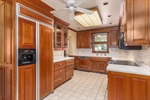 Kitchen with custom Cherry cabinetry