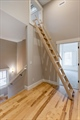 Access to loft w easy to roll or lock away ladder
