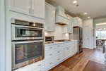 Stainless appliances include wall oven gas range