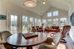 Sun room offers casual dining options.