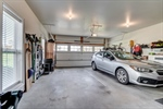 Two car garage with side door access