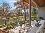 Covered Terrace and Garden Overlooking Lake