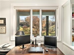 Office Nook in Family Room Overlooking Lake