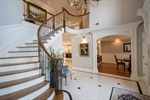 Sweeping Stairs in Foyer