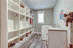 Mudroom features great storage cubbies!