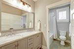Full bathroom with double vanity