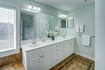 Double vanities with upgraded faucets.
