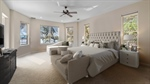 Master bedroom staged with virtual furniture