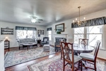 Dining and living rooms are open for entertaining!