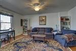 Terrace level rec room with hardwood floors!