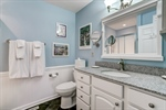 Owners bathroom with wainscoting