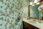 Powder room with full vanity!