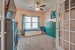 Study or Playroom with French doors.