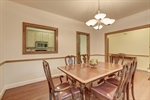 Dining room with pass through to kitchen.