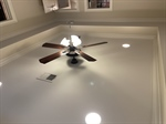 Tray ceiling and recessed lights