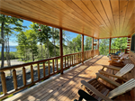 Covered Timbered Deck With a View!