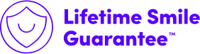 smile lifetime guarantee logo
