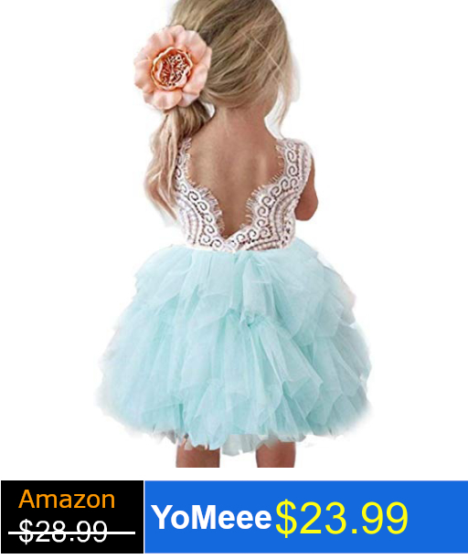 Topmaker Backless A-line Lace Back Flower Girl Dress (Configurable)