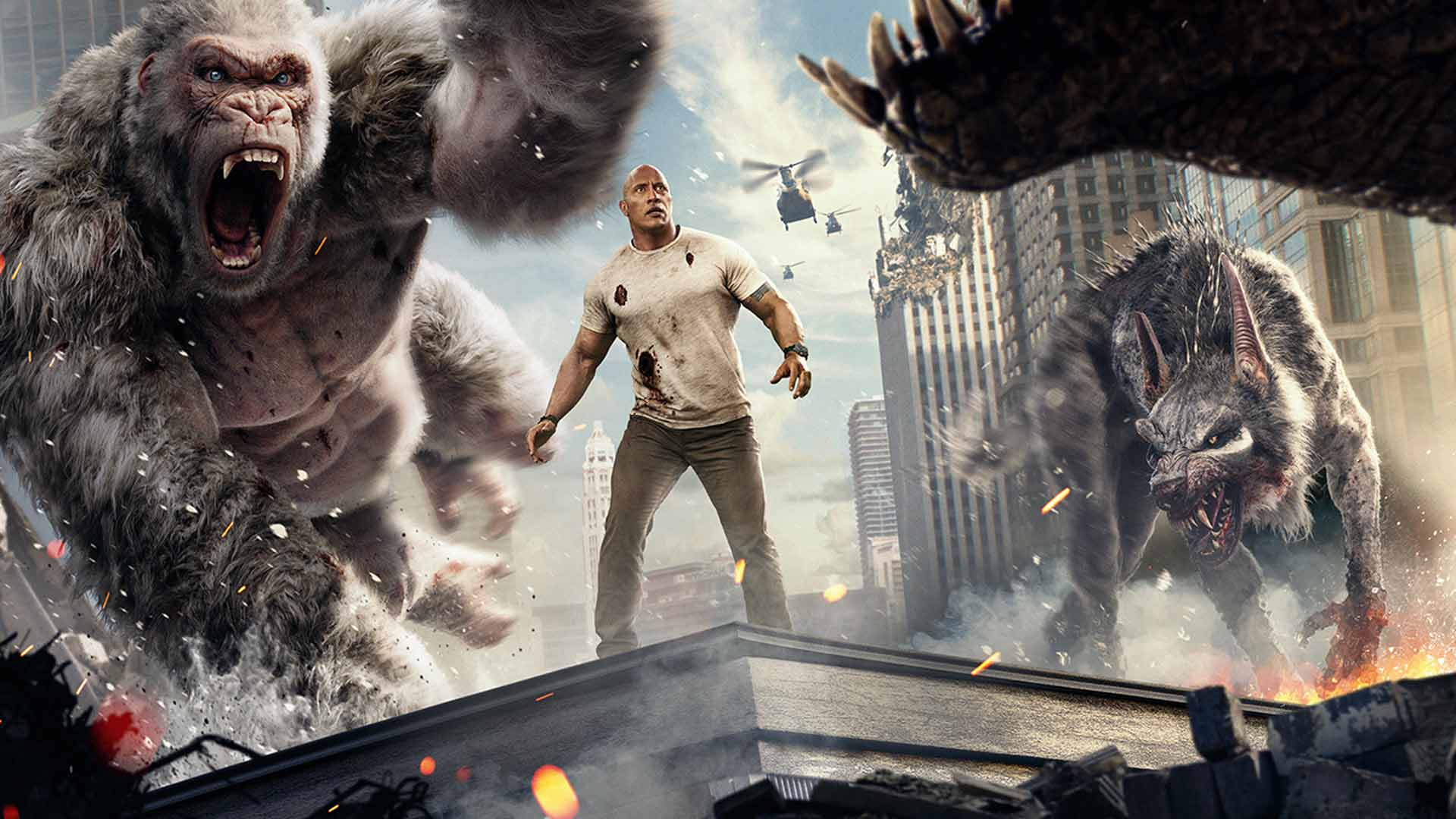 Rampage Movie Hd Wallpapers Download 1080p: Rampage (2018)- After The Credits