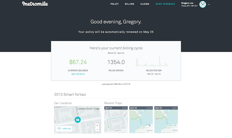 Metromile_Dashboard_overview