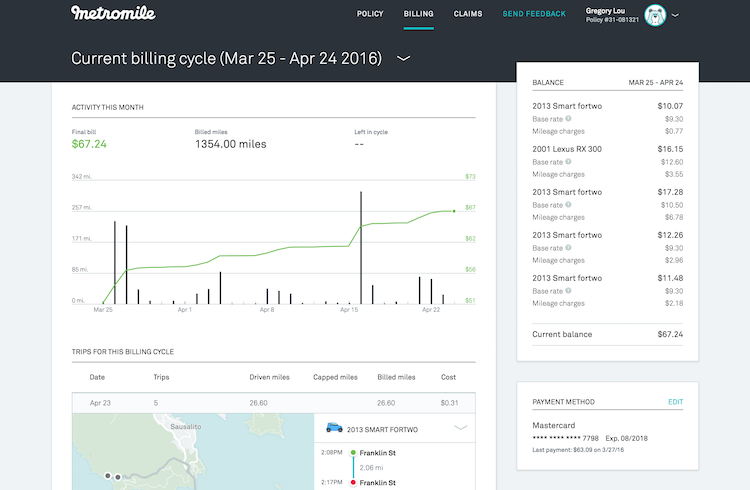 Metromile_Dashboard_Billing