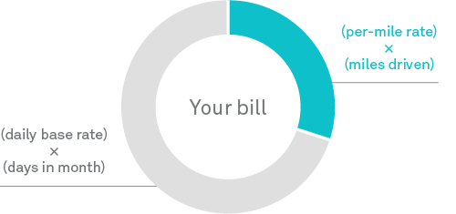 your bill pie chart