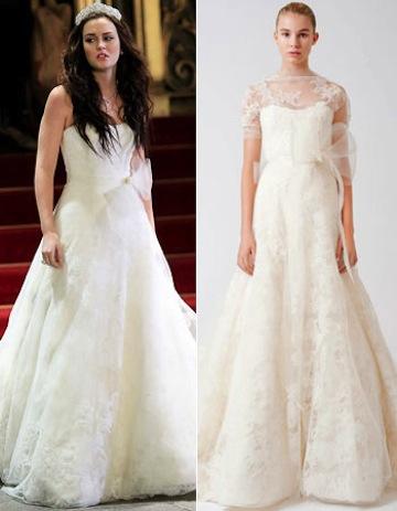Blair waldorf wedding dress elie saab designer