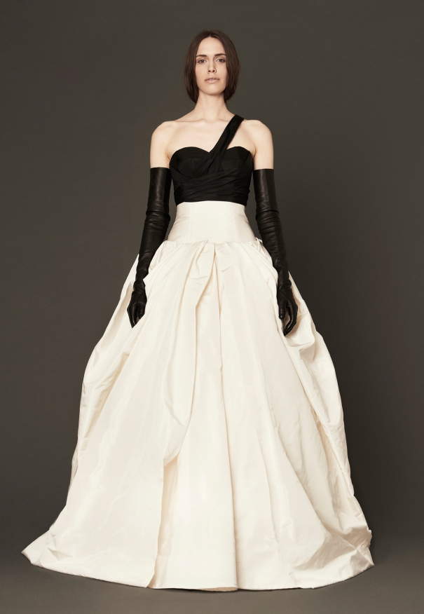 Black and White Wedding Gowns - Cheers, Vera Wang! - My Hotel Wedding
