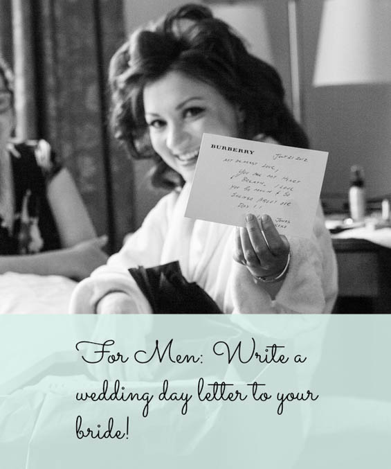 For Men Writing a Wedding Day Letter to Your Bride My Hotel Wedding