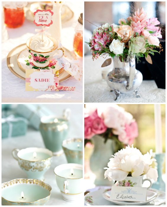 inspiration for tea party bridal shower decorations